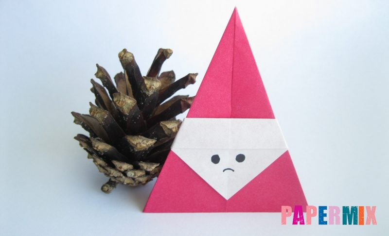 Как сделать Деда Мороза из бумаги в технике оригами своими руками