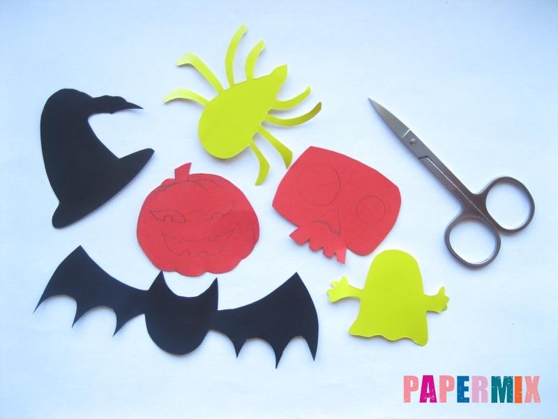 Как сделать гирлянду из бумаги на хэллоуин - шаг 2
