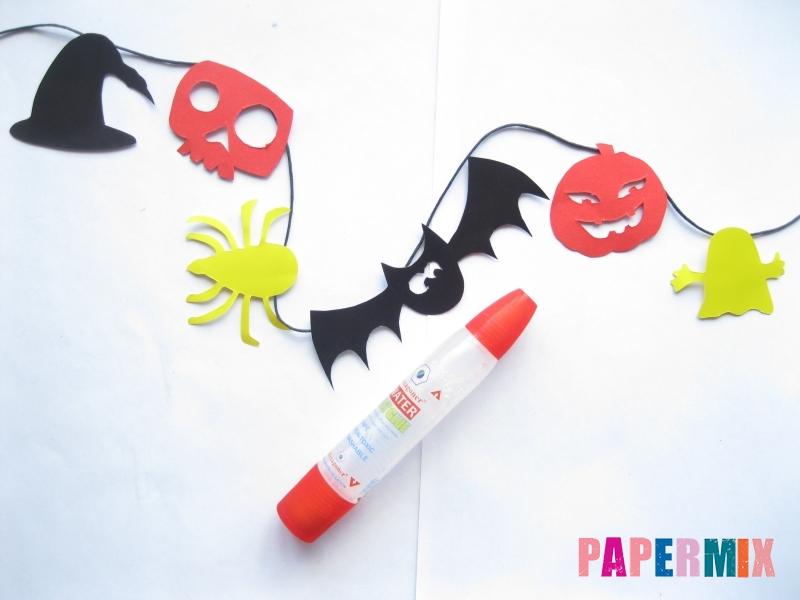 Как сделать гирлянду из бумаги на хэллоуин - шаг 8