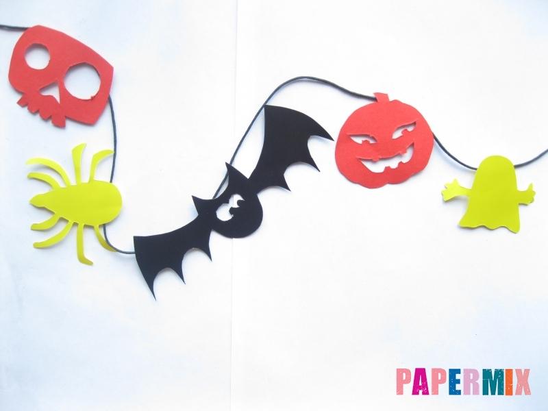 Как сделать гирлянду из бумаги на хэллоуин - шаг 9
