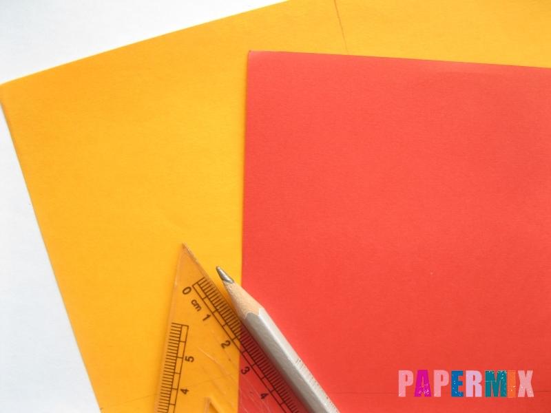 Как сделать конверт-валентинку своими руками из бумаги - шаг 1