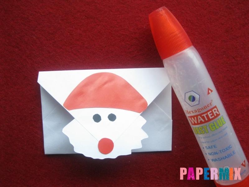 Как сделать конверт для Деда Мороза своими руками - шаг 3