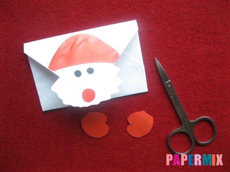 Как сделать конверт для Деда Мороза своими руками - шаг 4