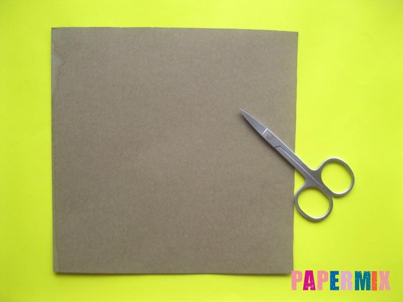 Как сделать конверт в виде оленя своими руками поэтапно - шаг 1