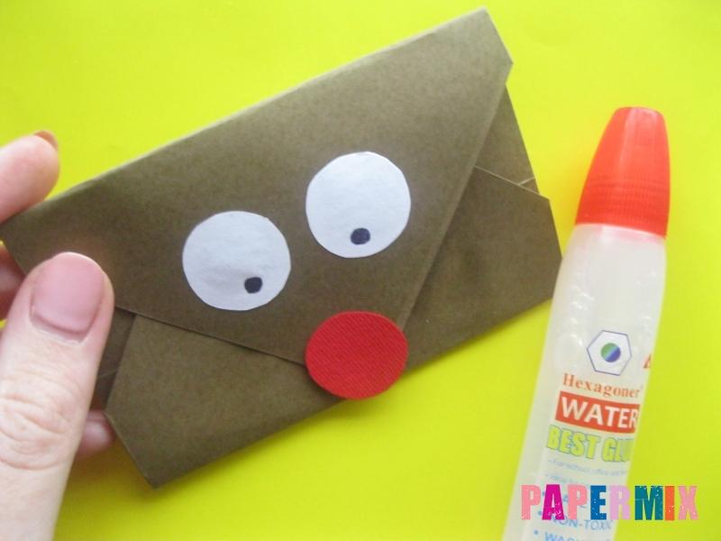 Как сделать конверт в виде оленя своими руками поэтапно - шаг 11