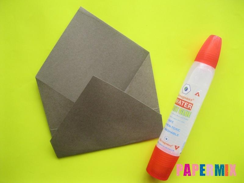 Как сделать конверт в виде оленя своими руками поэтапно - шаг 6
