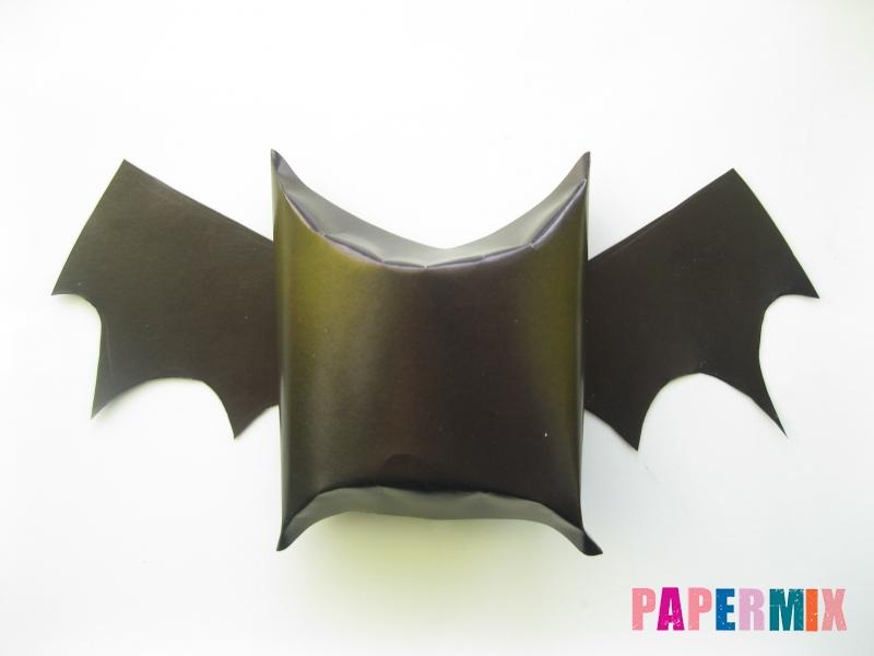 Как сделать летучую мышь на хэллоуин из бумаги - шаг 7