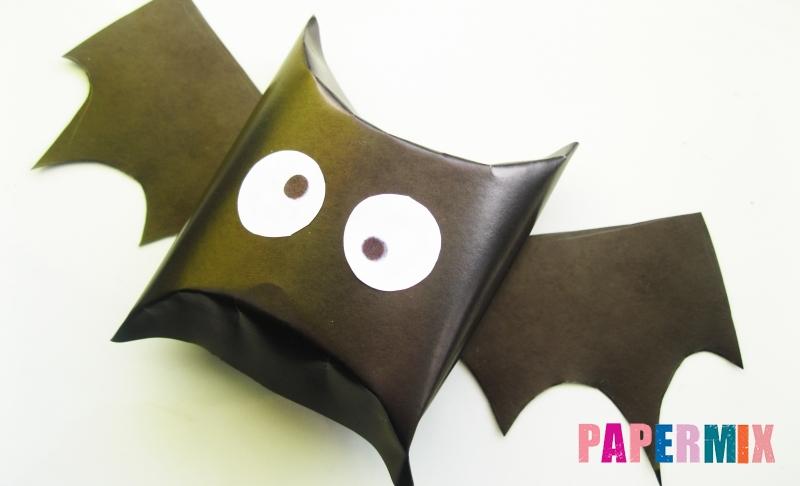 Как сделать летучую мышь из бумаги на хэллоуин своими руками