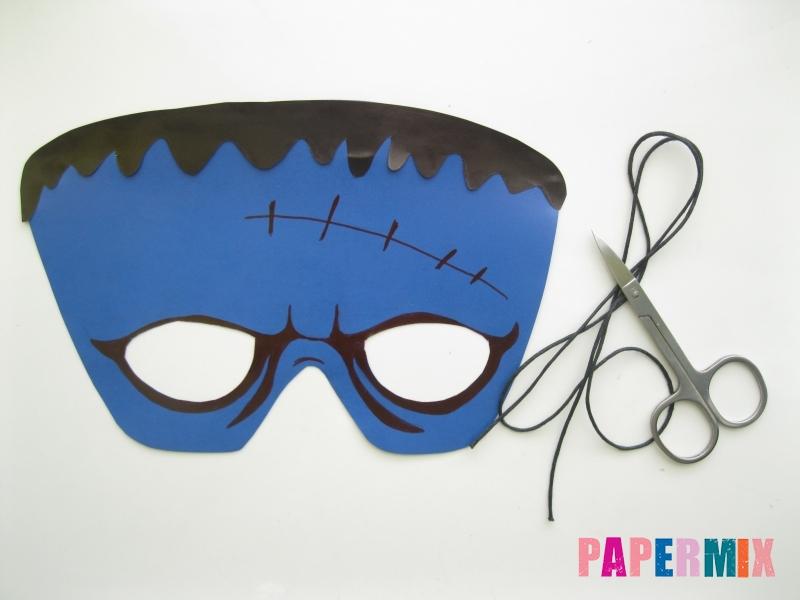 Как сделать маску Франкенштейна на хэллоуин из бумаги - шаг 8