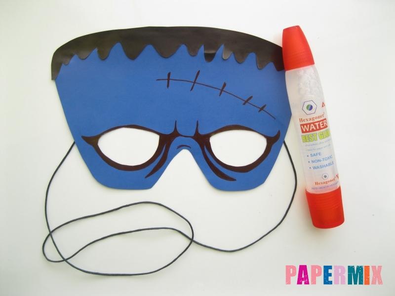Как сделать маску Франкенштейна на хэллоуин из бумаги - шаг 9