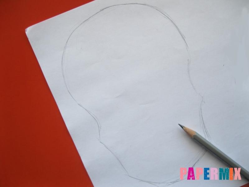 Как сделать маску скелета на хэллоуин из бумаги своими руками - шаг 1
