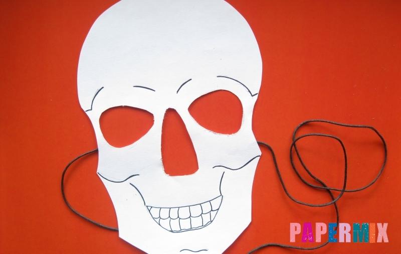 Как сделать маску в виде скелета на хэллоуин из бумаги своими руками