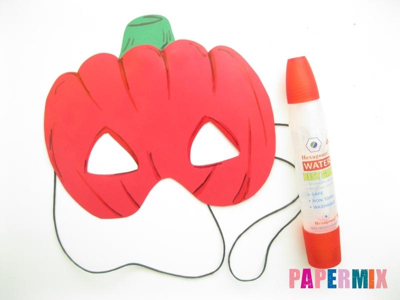 Как сделать маску тыквы на хэллоуин из бумаги своими руками - шаг 10