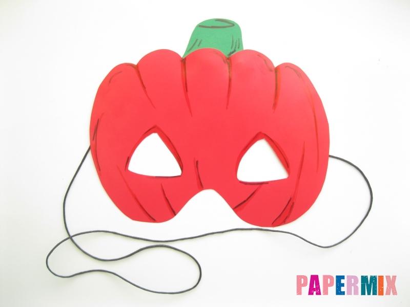 Как сделать маску тыквы на хэллоуин из бумаги своими руками - шаг 11