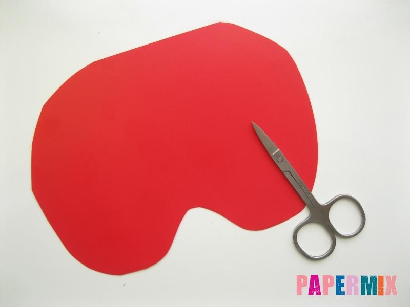 Как сделать маску тыквы на хэллоуин из бумаги своими руками - шаг 2