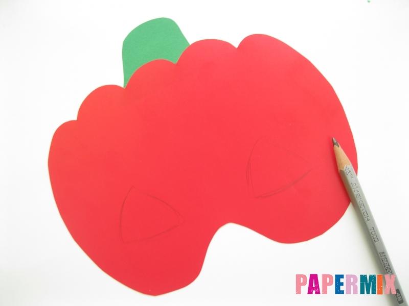 Как сделать маску тыквы на хэллоуин из бумаги своими руками - шаг 6