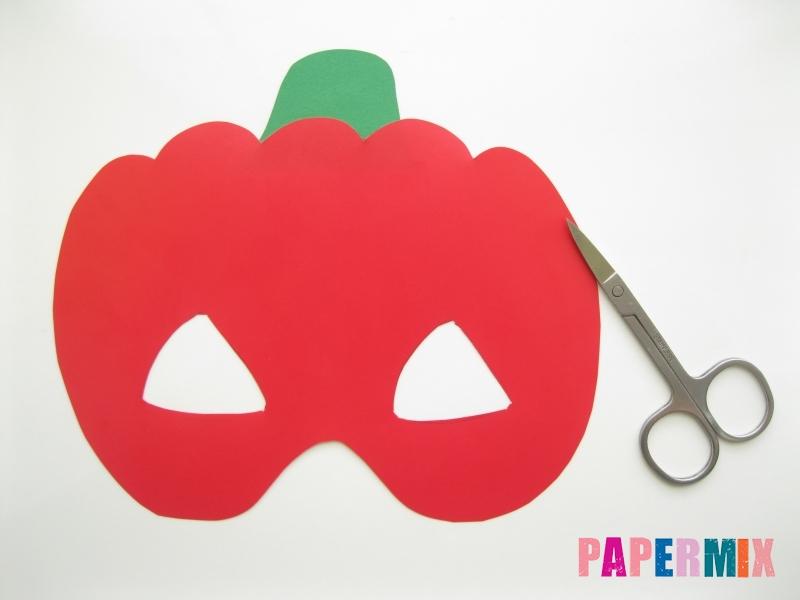 Как сделать маску тыквы на хэллоуин из бумаги своими руками - шаг 7