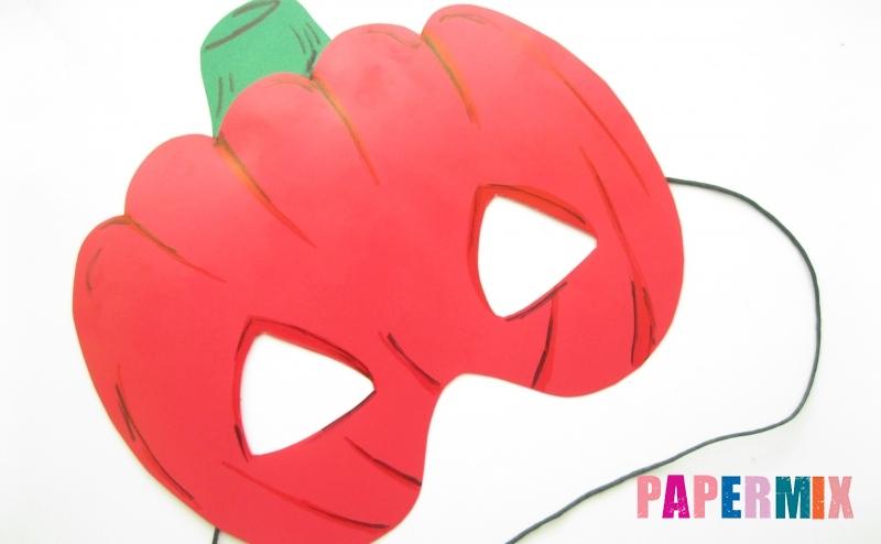 Как сделать маску в виде тыквы на хэллоуин из бумаги своими руками