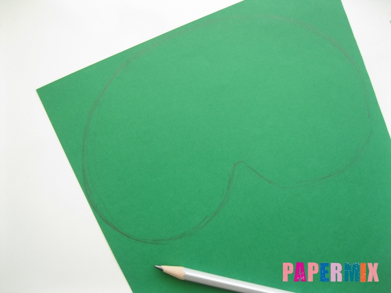 Как сделать маску ведьмы на хэллоуин из бумаги своими руками - шаг 1