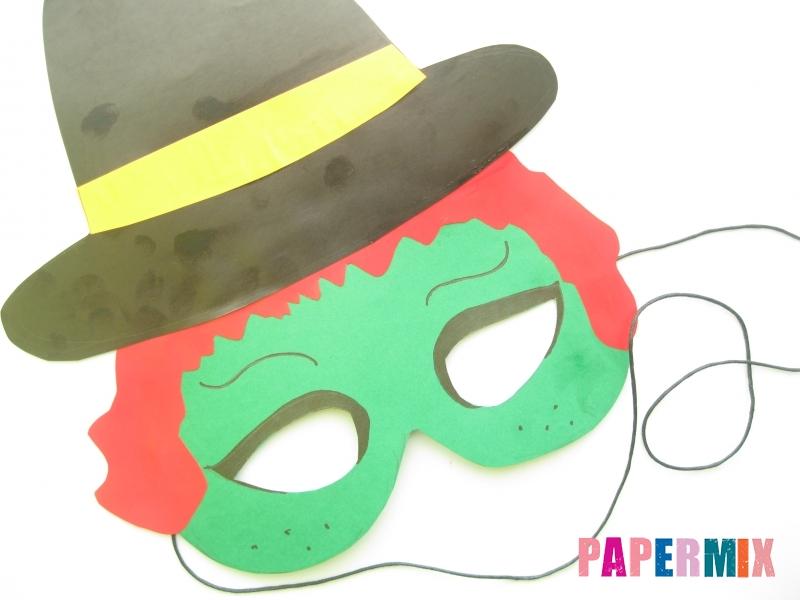 Как сделать маску ведьмы на хэллоуин из бумаги своими руками - шаг 12
