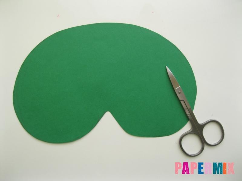 Как сделать маску ведьмы на хэллоуин из бумаги своими руками - шаг 2