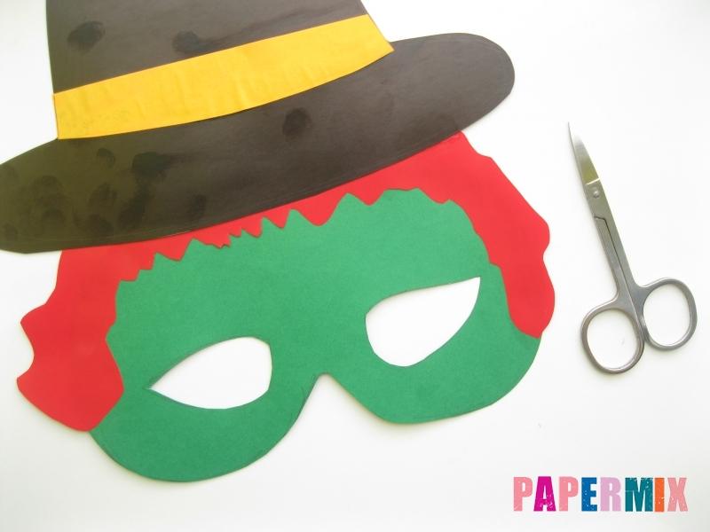 Как сделать маску ведьмы на хэллоуин из бумаги своими руками - шаг 8