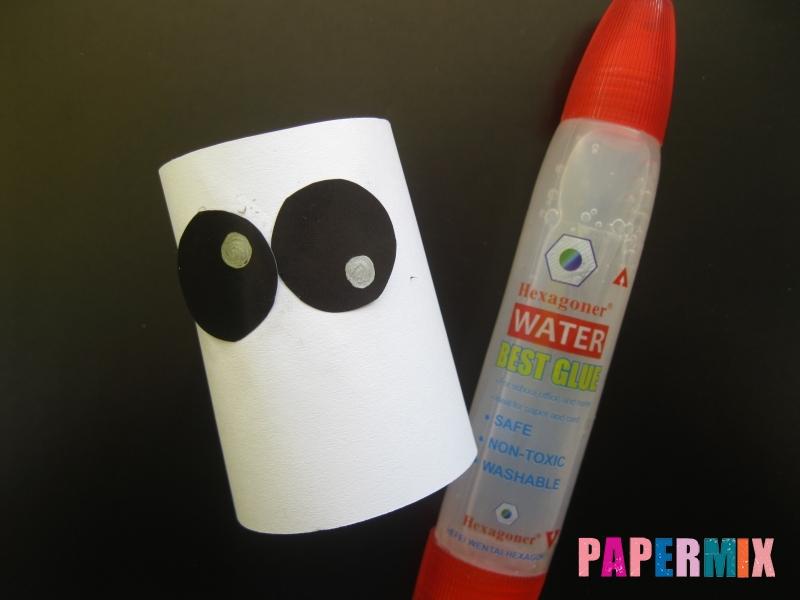 Как сделать объемное привидение из бумаги на хэллоуин - шаг 3