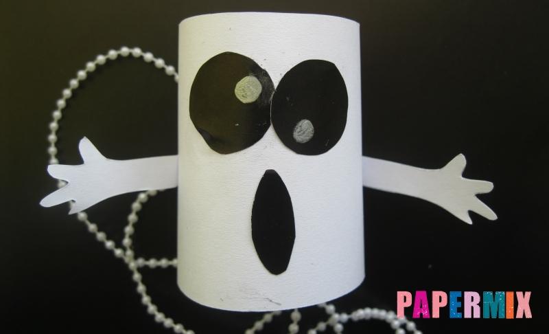 Объемное привидение из бумаги на хэллоуин своими руками