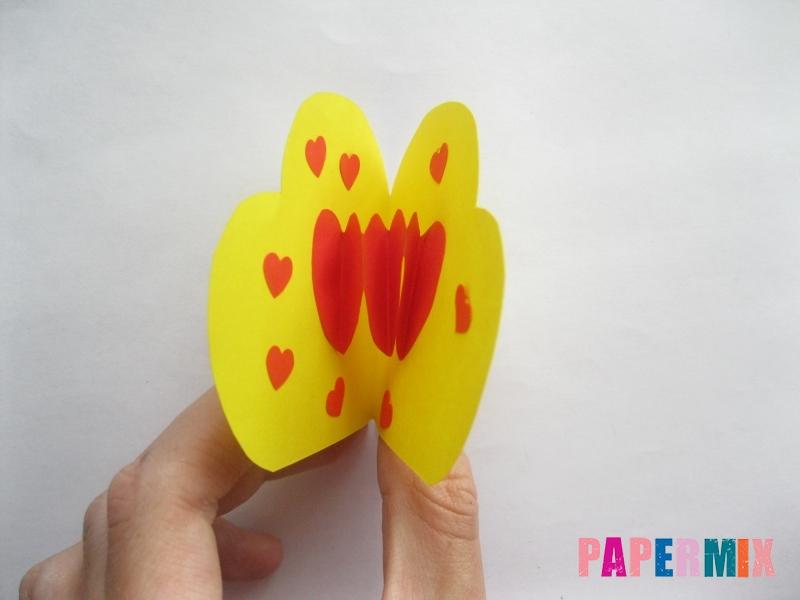 Как сделать объемную валентинку из бумаги своими руками - шаг 10