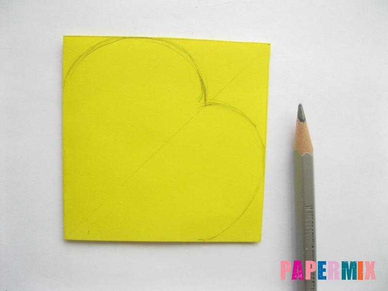 Как сделать объемную валентинку из бумаги своими руками - шаг 2