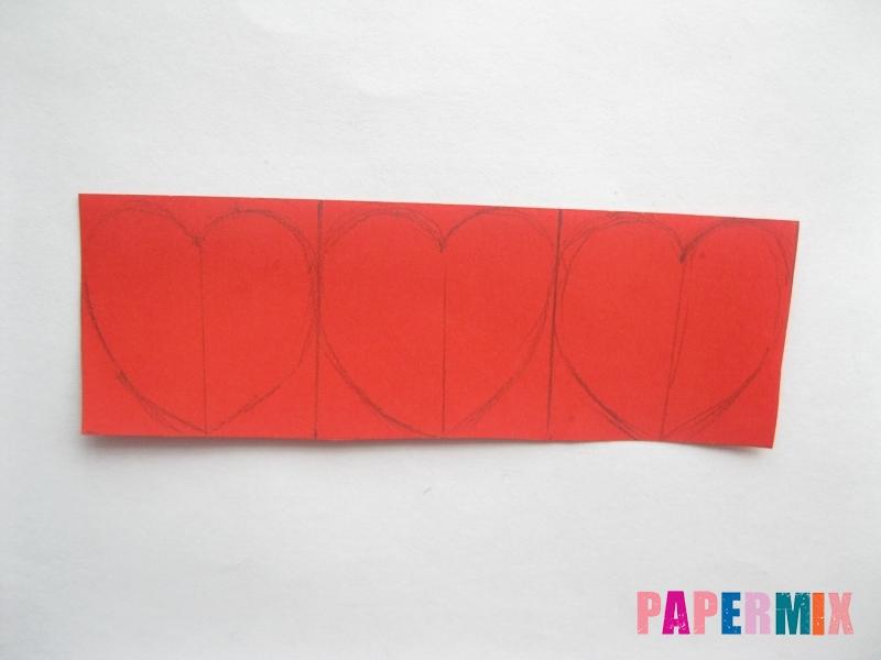 Как сделать объемную валентинку из бумаги своими руками - шаг 5