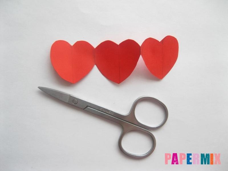 Как сделать объемную валентинку из бумаги своими руками - шаг 6