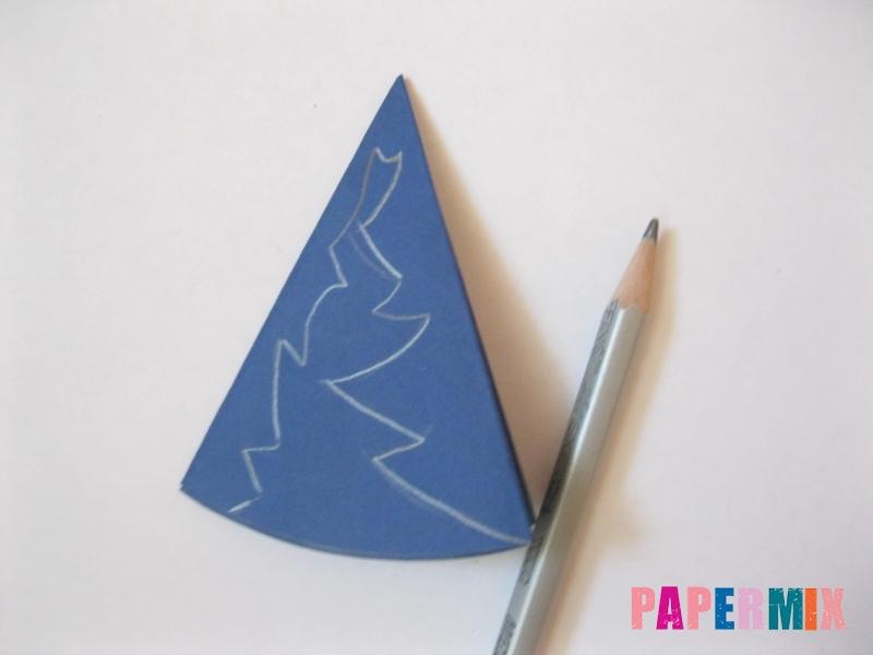 Как сделать снежинку из круглой бумаги своими руками - шаг 7