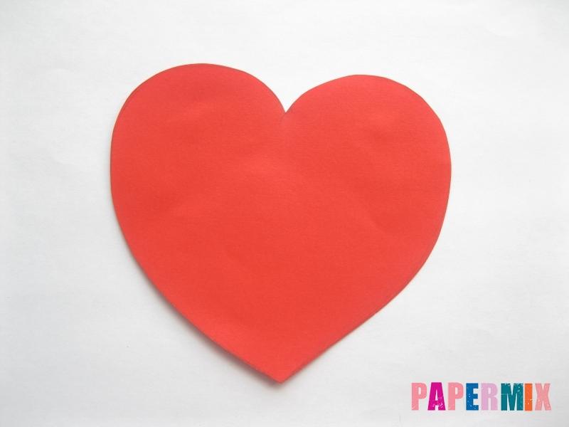 Конверт из сердечка ко дню святого Валентина своими руками - шаг 3