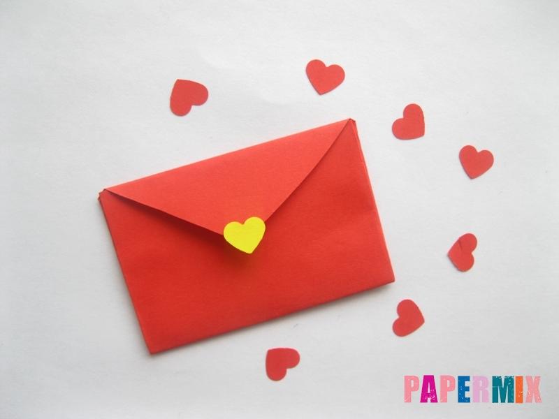 Конверт из сердечка ко дню святого Валентина своими руками - шаг 8