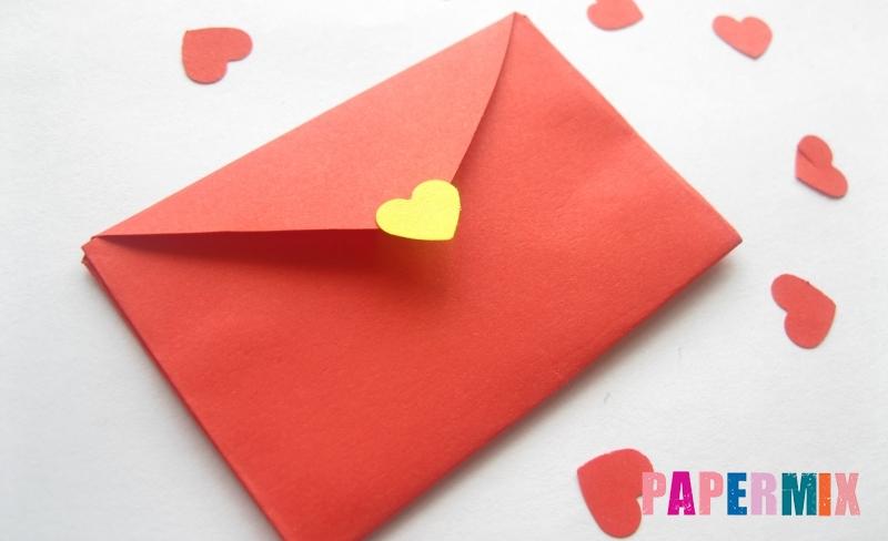 Как сделать конверт из сердечка ко дню святого Валентина своими руками