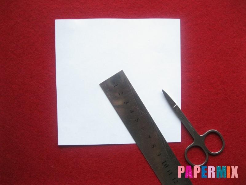 Конверт в виде снеговика из бумаги своими руками - шаг 1
