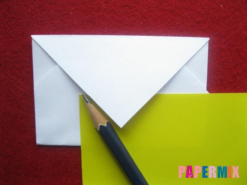 Конверт в виде снеговика из бумаги своими руками - шаг 11