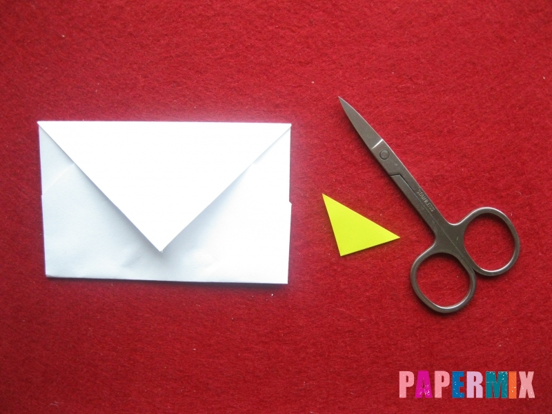 Конверт в виде снеговика из бумаги своими руками - шаг 12