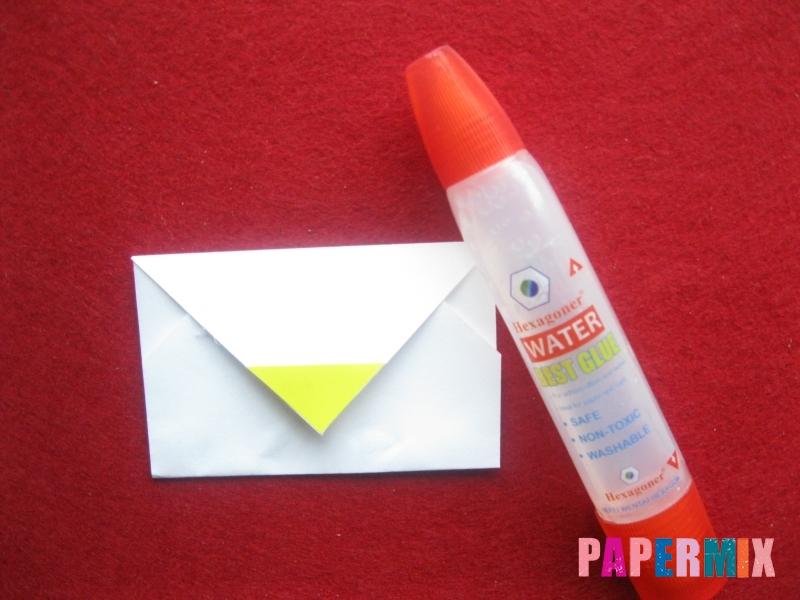 Конверт в виде снеговика из бумаги своими руками - шаг 13
