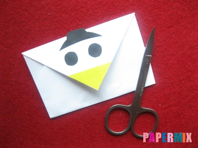 Конверт в виде снеговика из бумаги своими руками - шаг 14
