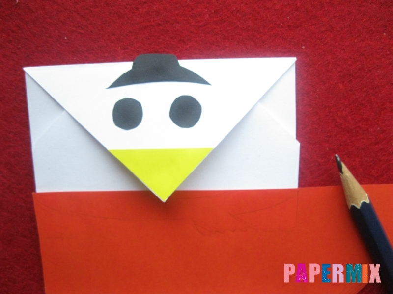 Конверт в виде снеговика из бумаги своими руками - шаг 15