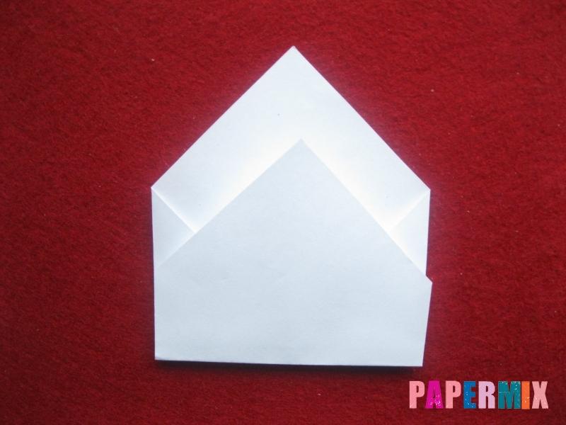 Конверт в виде снеговика из бумаги своими руками - шаг 7