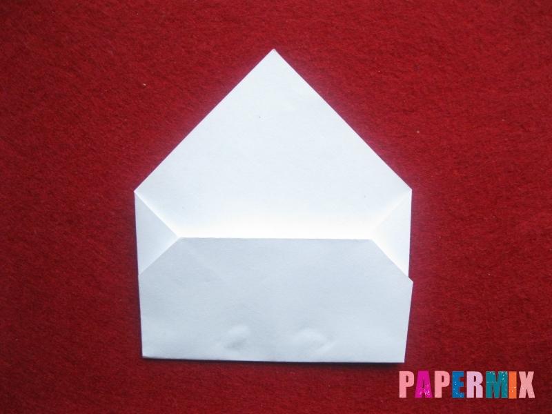 Конверт в виде снеговика из бумаги своими руками - шаг 9