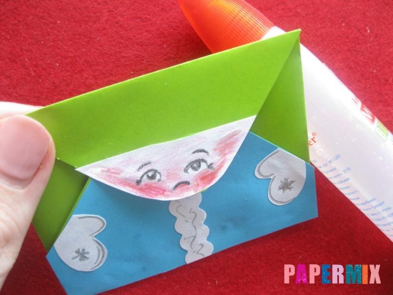 Конверт в виде Снегурочки из бумаги своими руками - шаг 16