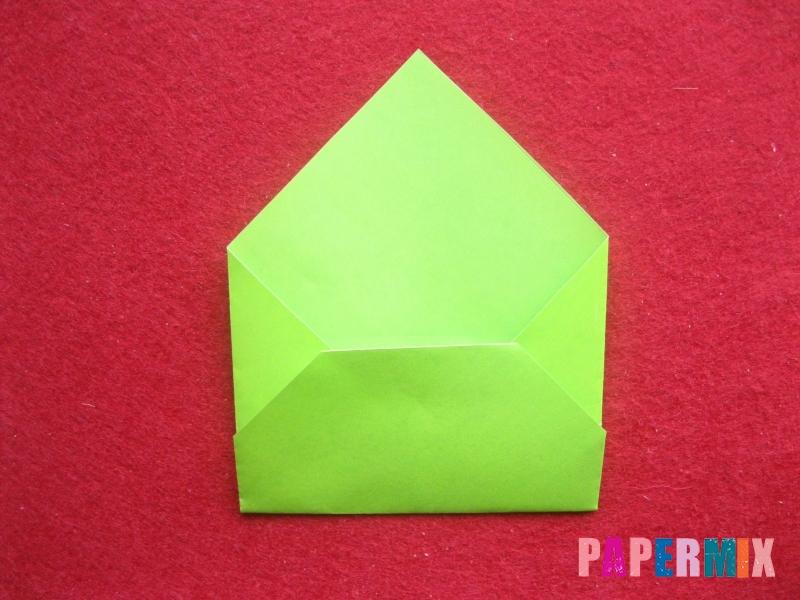 Конверт в виде Снегурочки из бумаги своими руками - шаг 7
