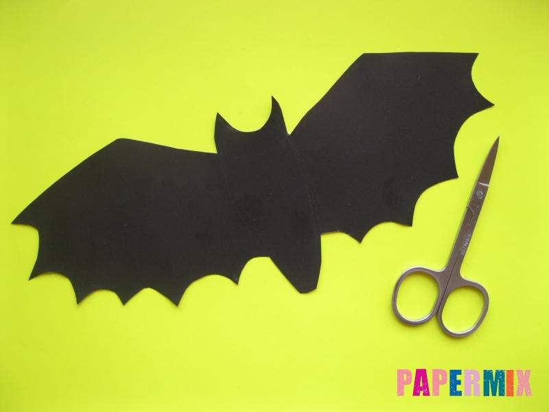 Маска летучей мыши на хэллоуин из бумаги своими руками - шаг 1
