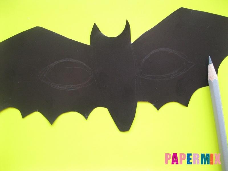Маска летучей мыши на хэллоуин из бумаги своими руками - шаг 2