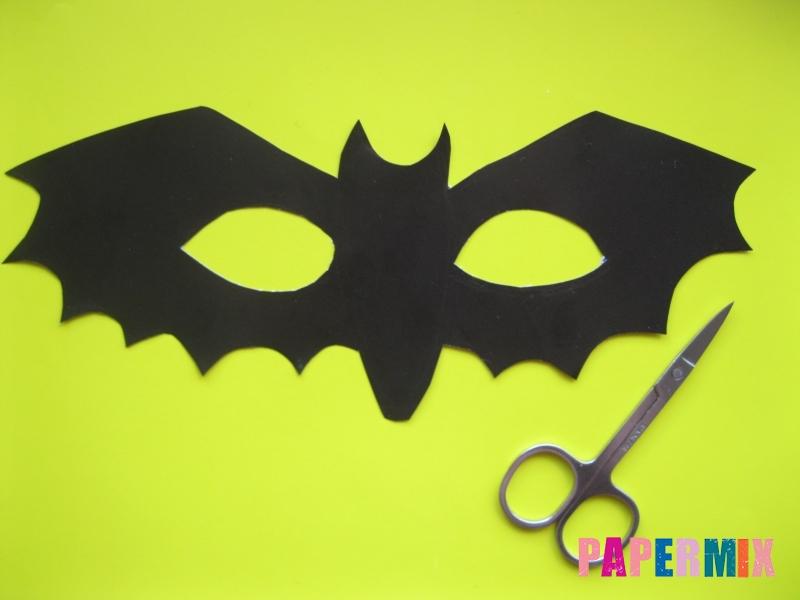 Маска летучей мыши на хэллоуин из бумаги своими руками - шаг 3