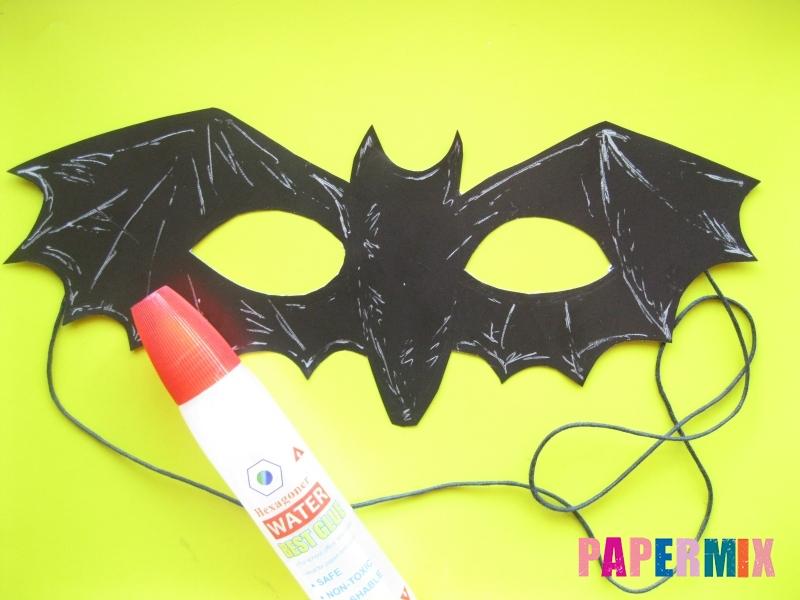 Маска летучей мыши на хэллоуин из бумаги своими руками - шаг 6